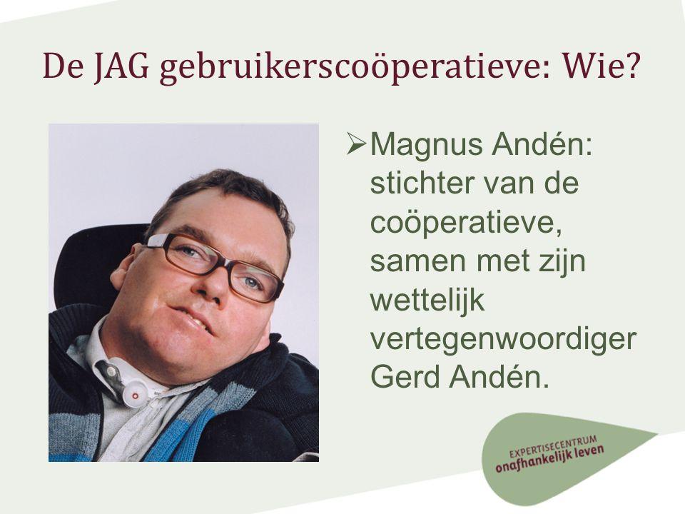 De JAG gebruikerscoöperatieve: Wie.