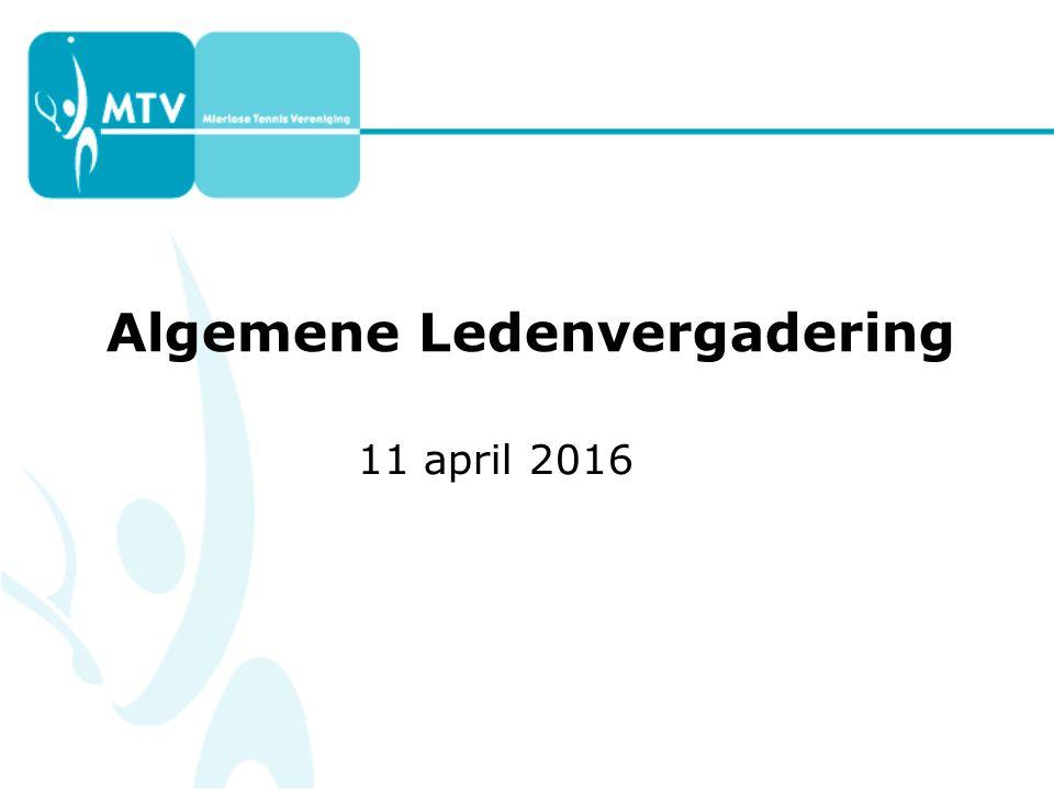 Algemene Ledenvergadering 11 april 2016