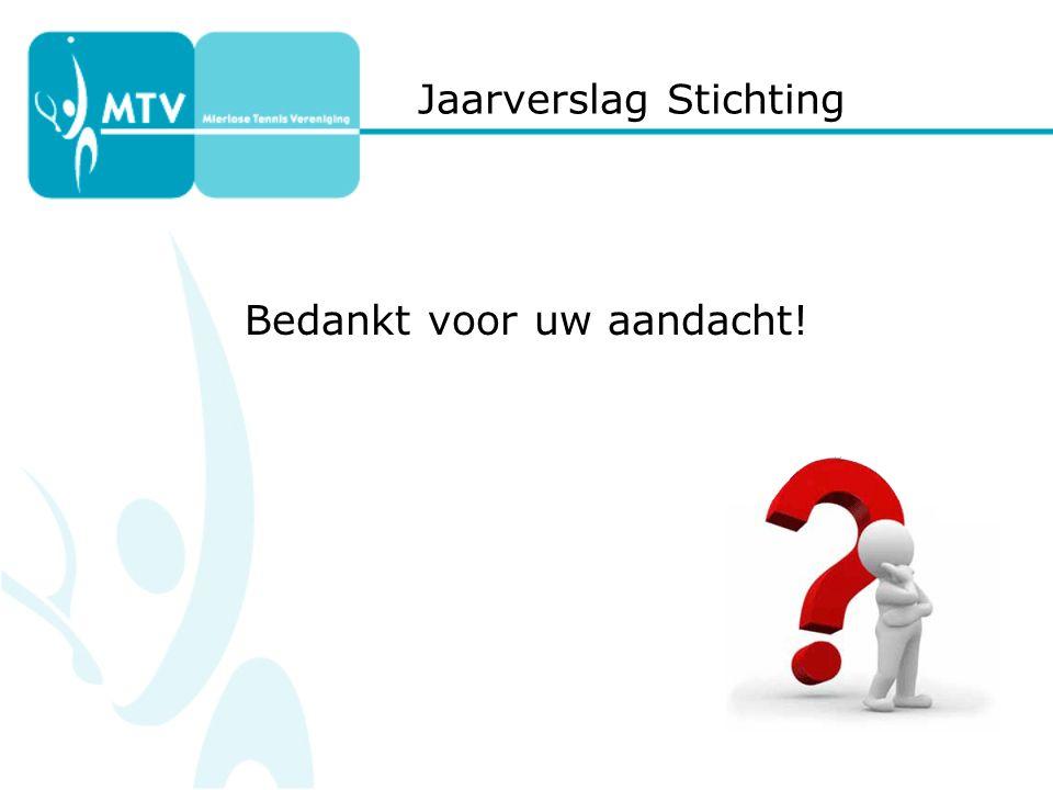 Jaarverslag Stichting Bedankt voor uw aandacht!