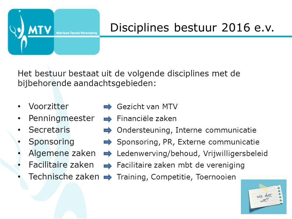 Disciplines bestuur 2016 e.v.