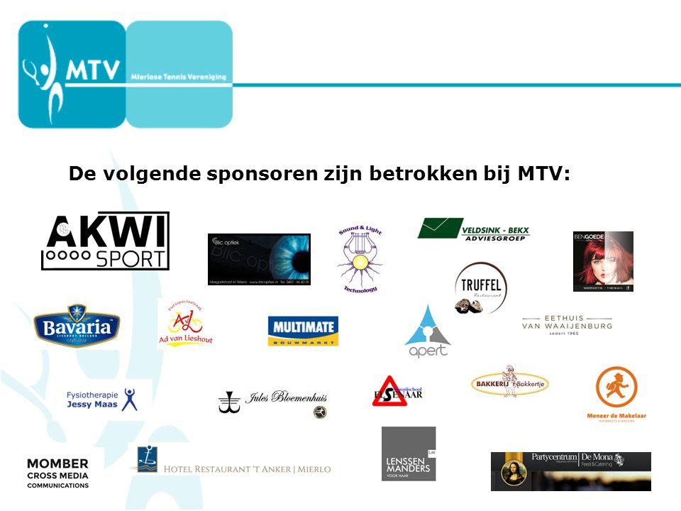 De volgende sponsoren zijn betrokken bij MTV: