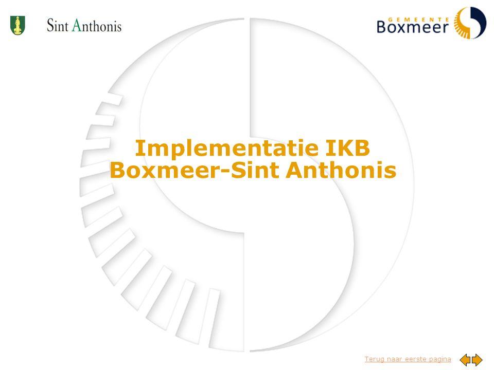 Terug naar eerste pagina Implementatie IKB Boxmeer-Sint Anthonis