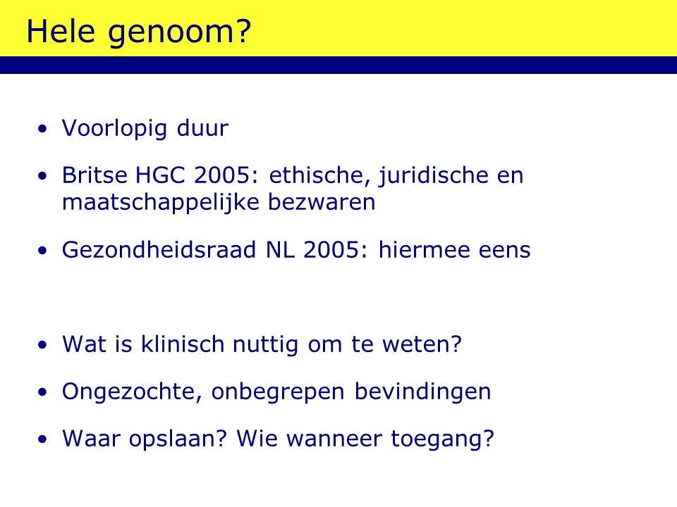 Hele genoom.