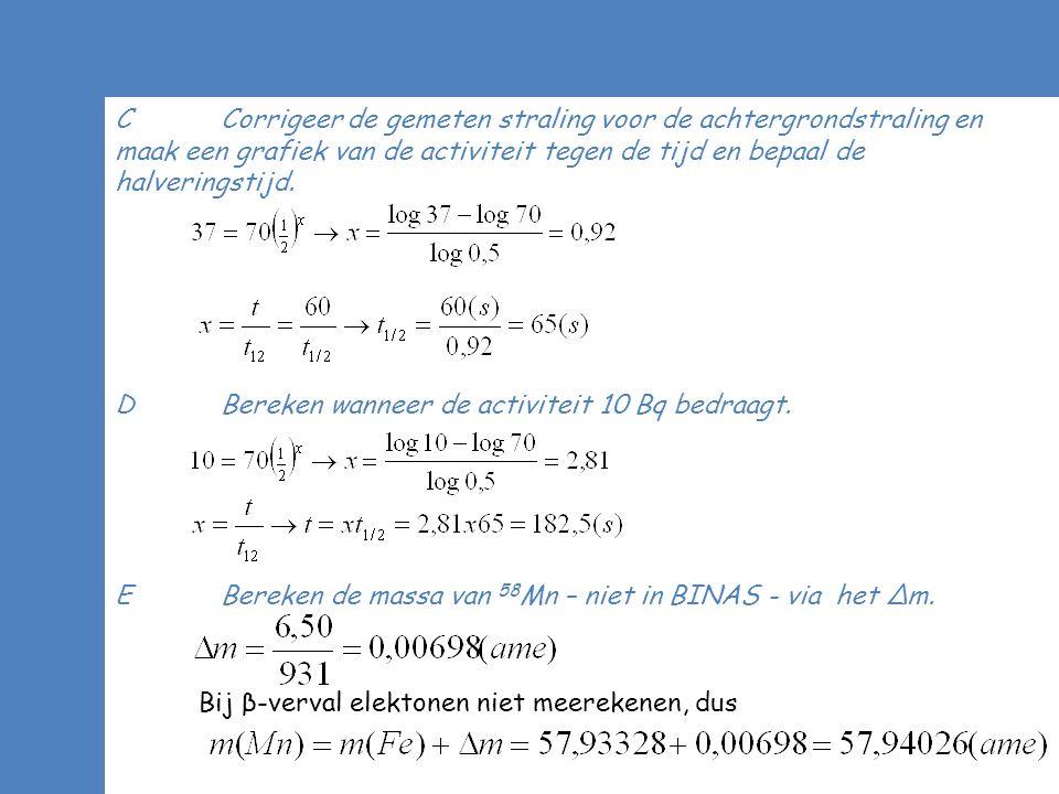 ASPECT CT-SCAN (HAVO 2013) F De energie van 1 γ-foton is 0,14 MeV.