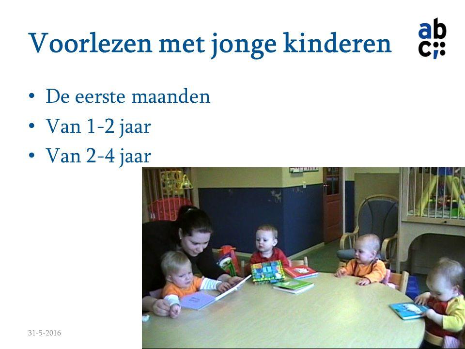 Voorlezen met jonge kinderen De eerste maanden Van 1-2 jaar Van 2-4 jaar 31-5-2016www.hetabc.nl13