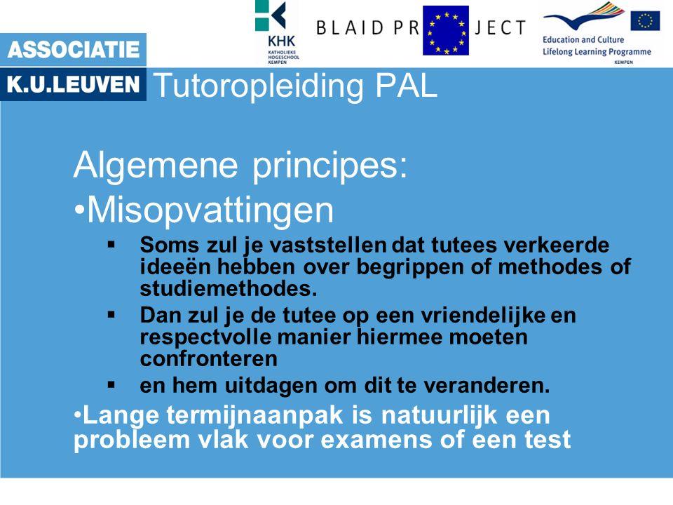 Tutoropleiding PAL Functioneren Tutor: beloon Effectief belonen.