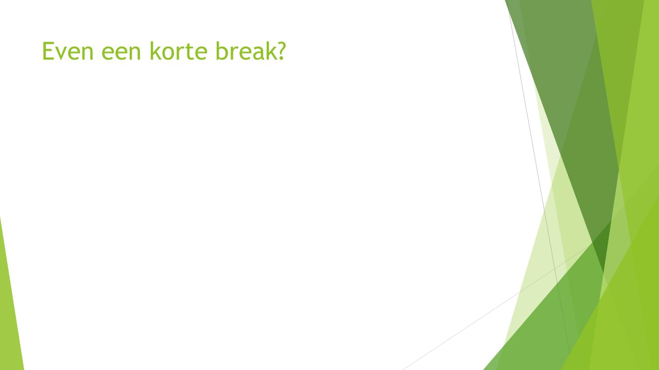 Even een korte break?