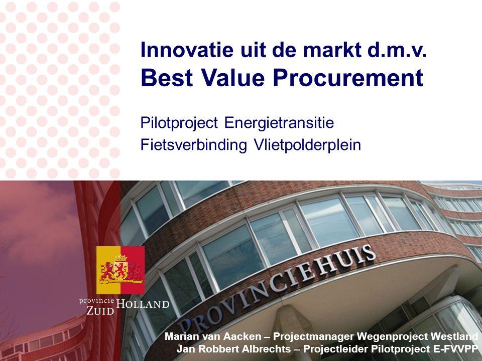 Innovatie uit de markt d.m.v.