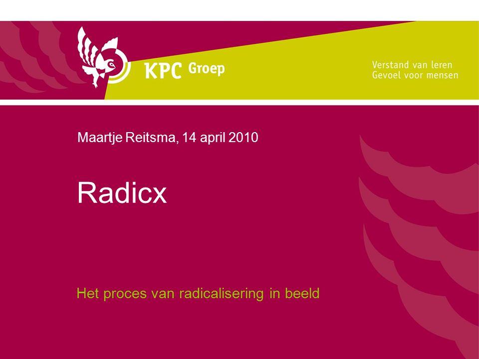 Radicx Het proces van radicalisering in beeld Maartje Reitsma, 14 april 2010