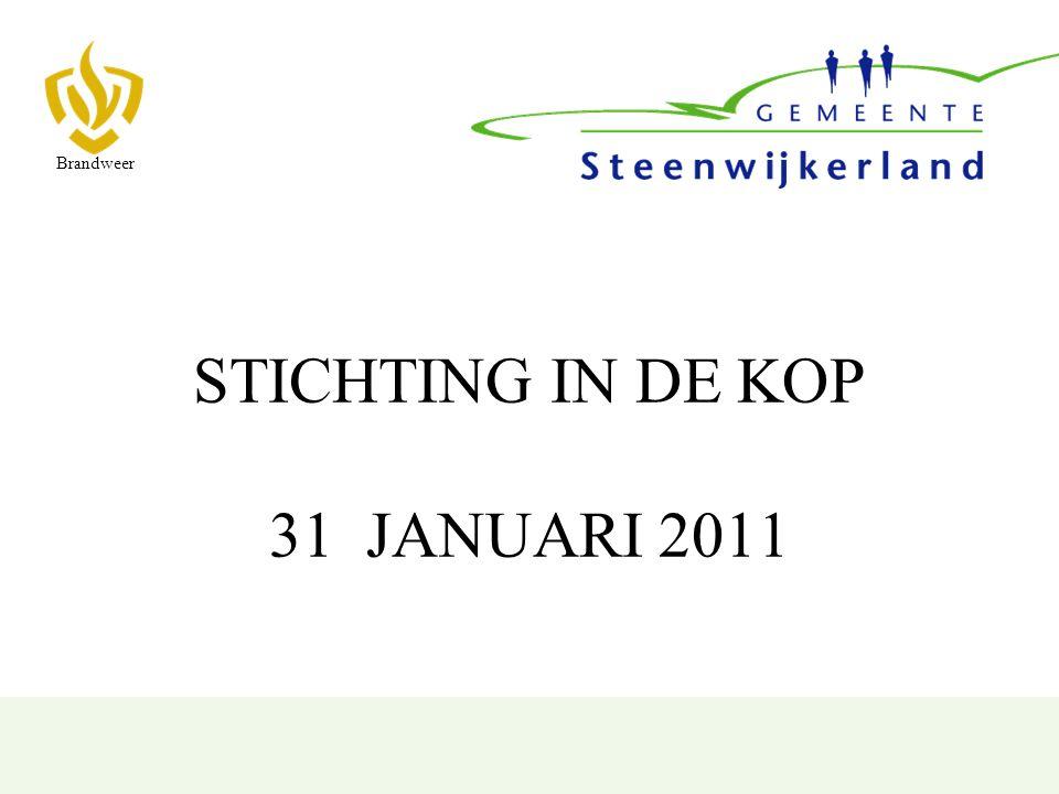 STICHTING IN DE KOP 31 JANUARI 2011 Brandweer