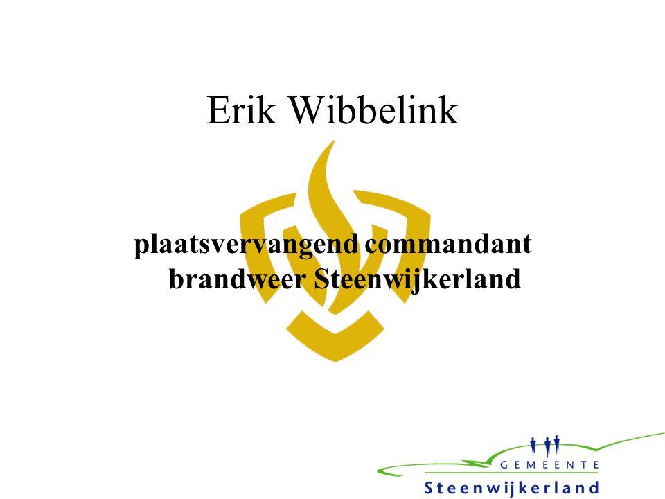 Erik Wibbelink plaatsvervangend commandant brandweer Steenwijkerland