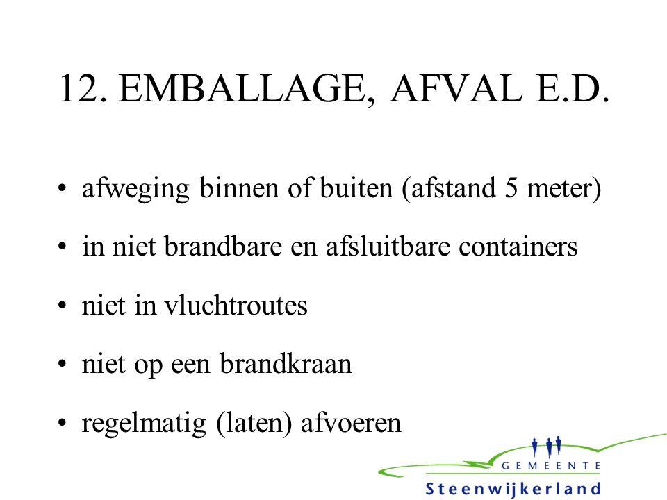 12. EMBALLAGE, AFVAL E.D.