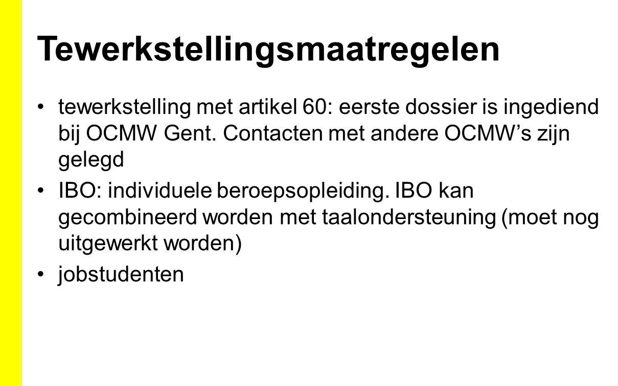 Tewerkstellingsmaatregelen tewerkstelling met artikel 60: eerste dossier is ingediend bij OCMW Gent.
