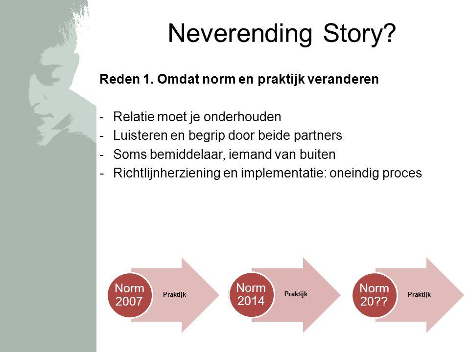 Praktijk Norm Neverending Story. Reden 1.