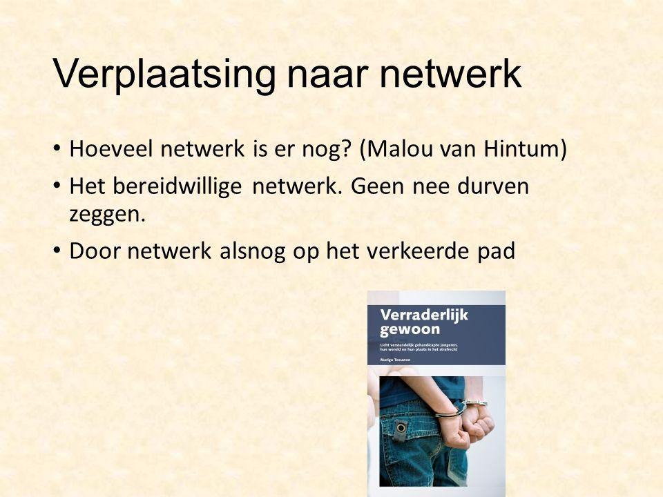 Verplaatsing naar netwerk Hoeveel netwerk is er nog.
