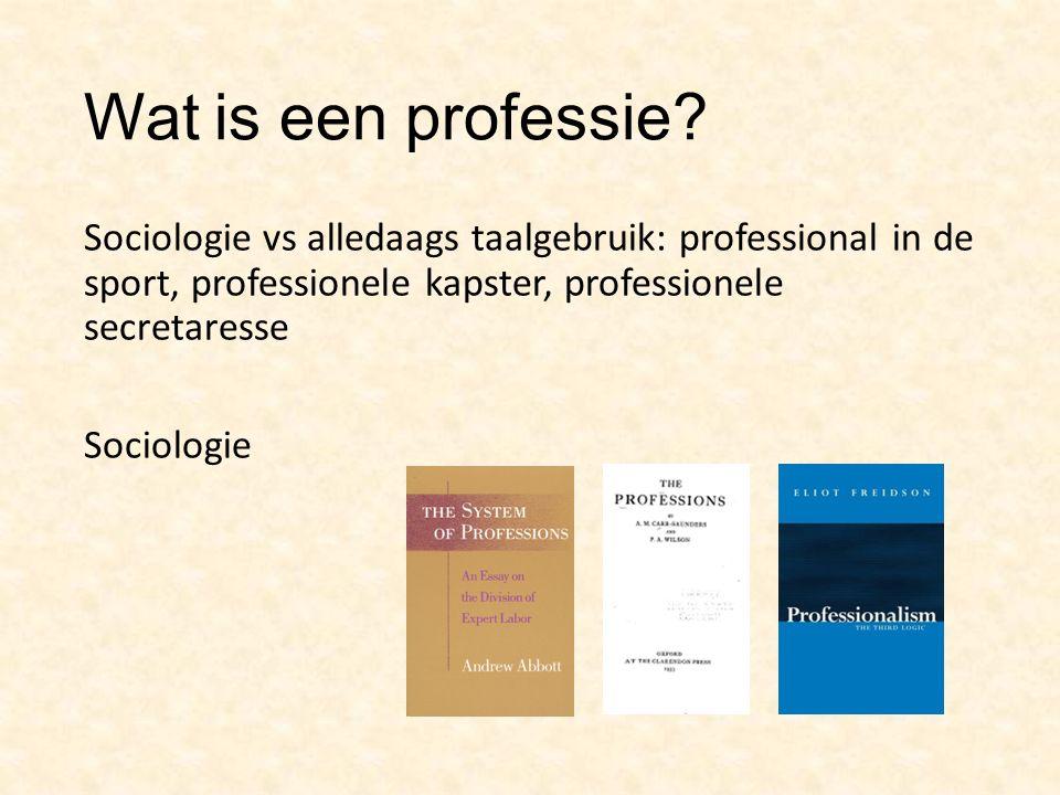 Wat is een professie.