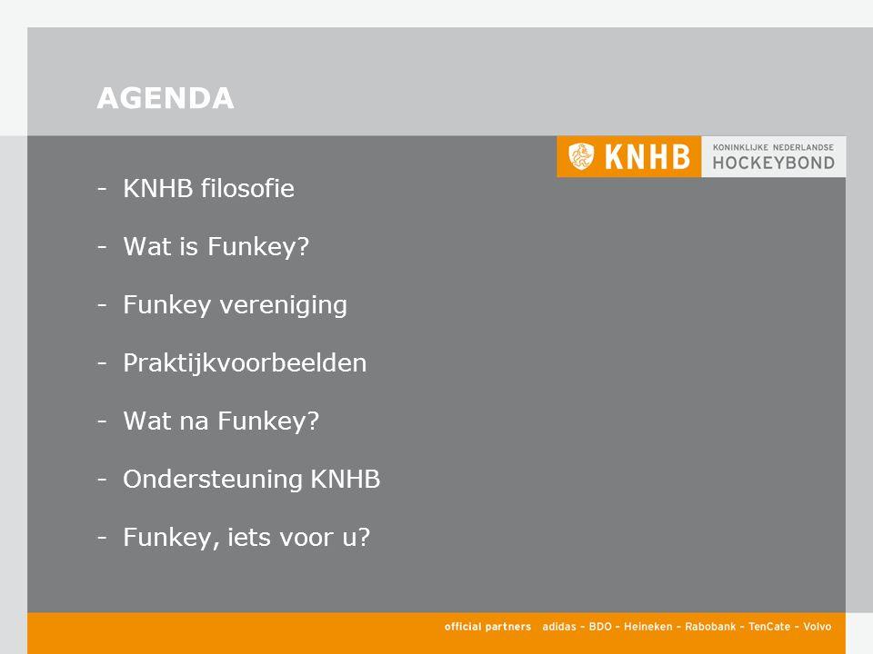 AGENDA -KNHB filosofie -Wat is Funkey. -Funkey vereniging -Praktijkvoorbeelden -Wat na Funkey.