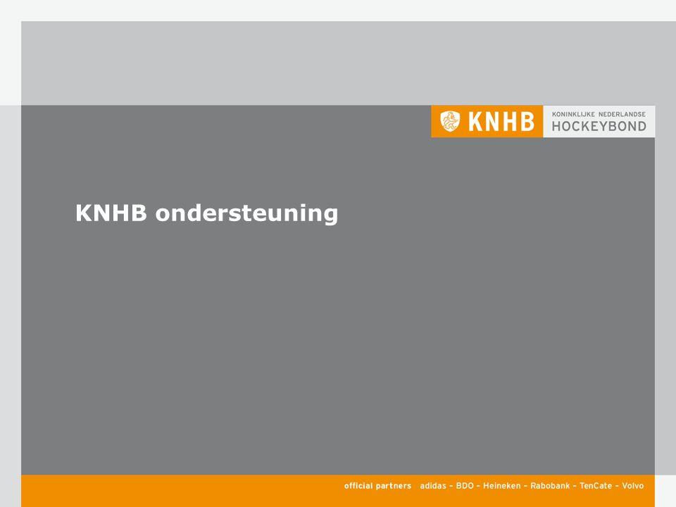 KNHB ondersteuning