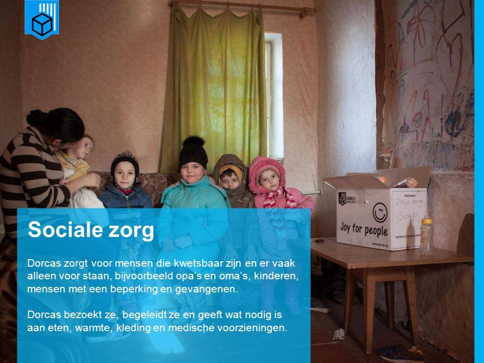 www.dorcas.nl Sociale zorg Dorcas zorgt voor mensen die kwetsbaar zijn en er vaak alleen voor staan, bijvoorbeeld opa's en oma's, kinderen, mensen met een beperking en gevangenen.