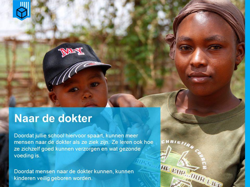 www.dorcas.nl Naar de dokter Doordat jullie school hiervoor spaart, kunnen meer mensen naar de dokter als ze ziek zijn.
