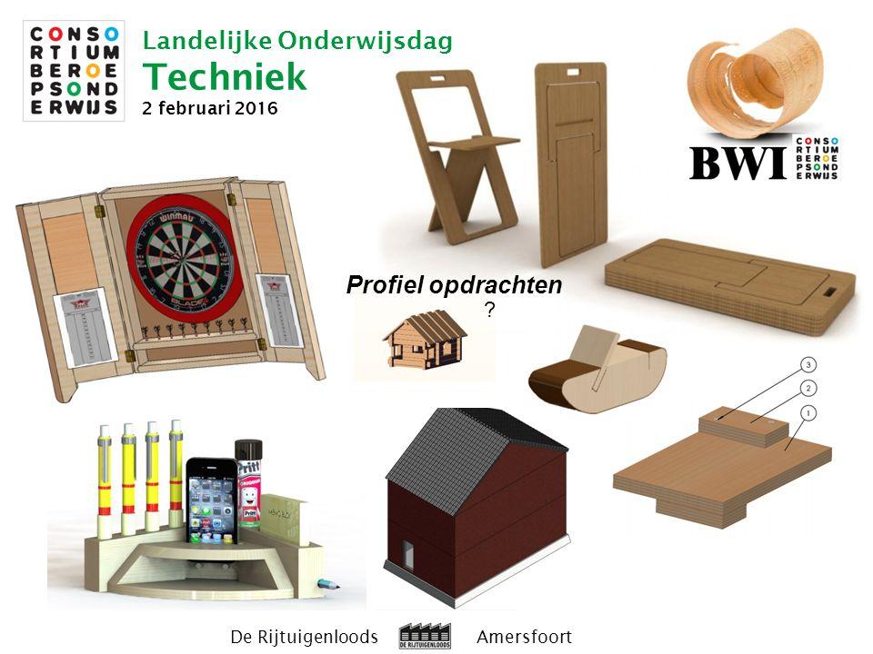 Landelijke Onderwijsdag Techniek 2 februari 2016 De Rijtuigenloods Amersfoort Profiel opdrachten