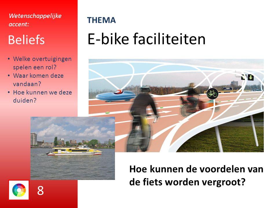 E-bike faciliteiten Beliefs Hoe kunnen de voordelen van de fiets worden vergroot.