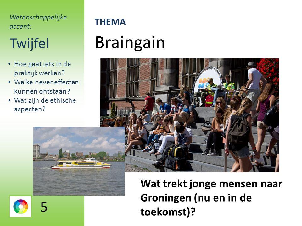 Braingain Twijfel Wat trekt jonge mensen naar Groningen (nu en in de toekomst).