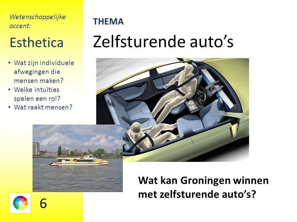 Zelfsturende auto's Esthetica Wat kan Groningen winnen met zelfsturende auto's.