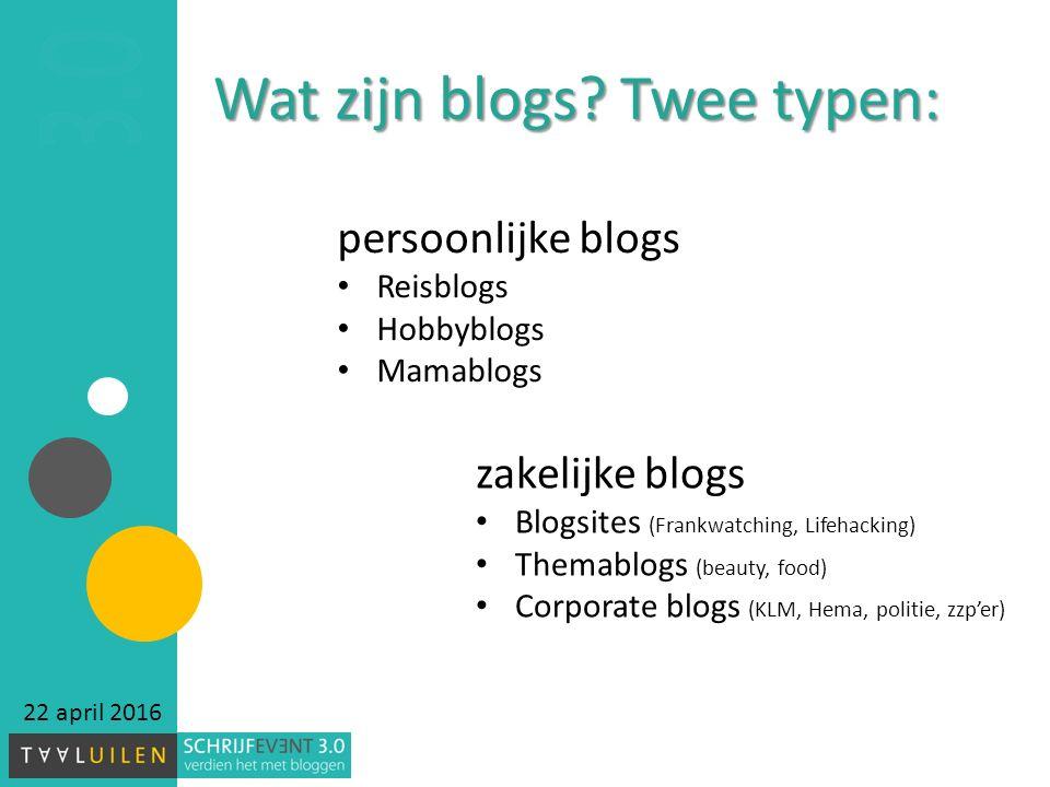 Wat zijn blogs.