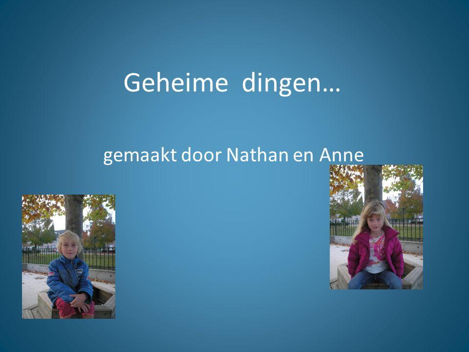Geheime dingen… gemaakt door Nathan en Anne
