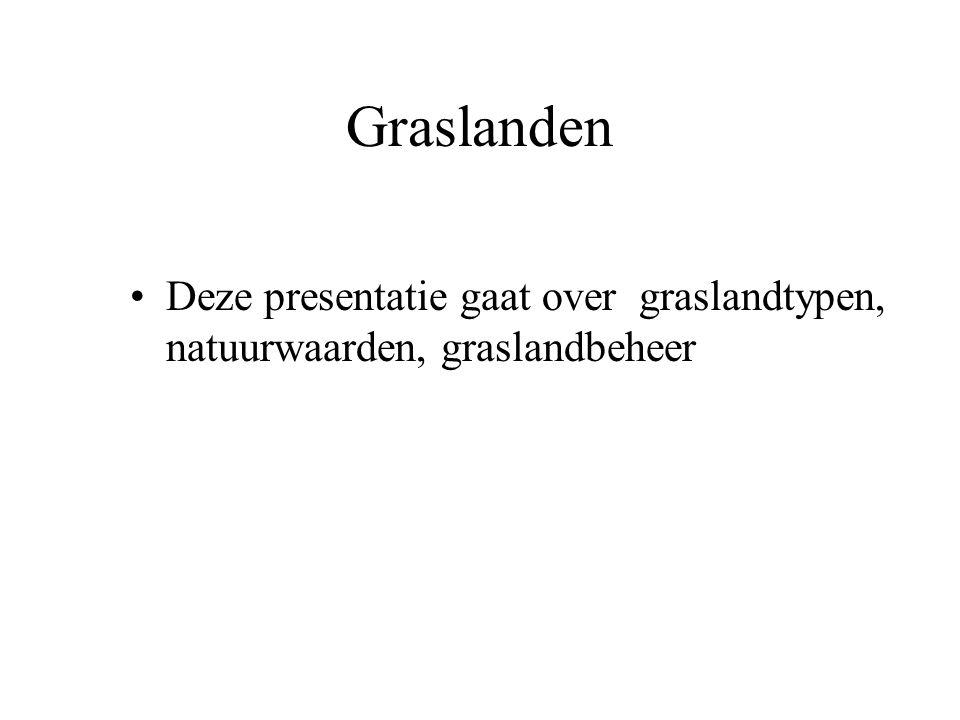 Graslanden Als voorbeeld hiernaast een vochtig hooiland met o.a.