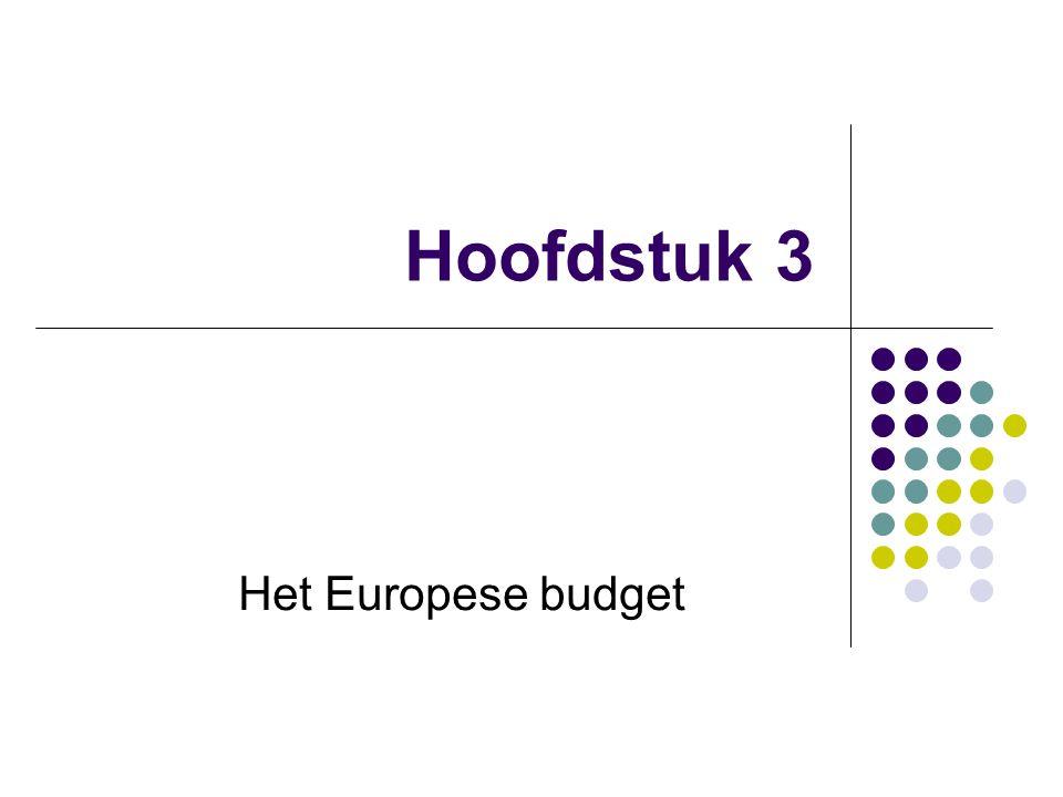 Hoofdstuk 3 Het Europese budget