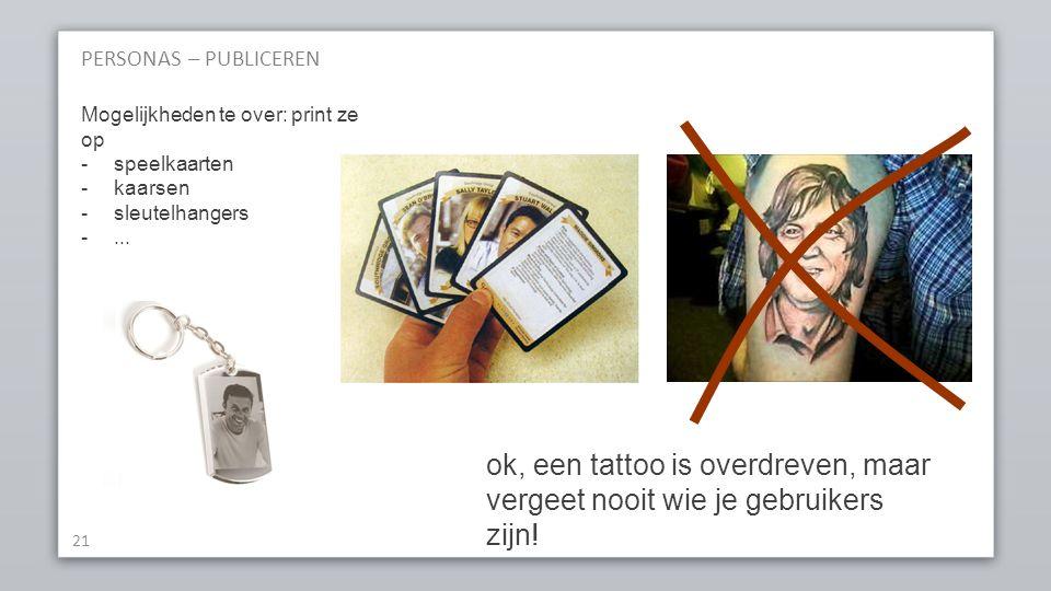PERSONAS – PUBLICEREN 21 Mogelijkheden te over: print ze op -speelkaarten -kaarsen -sleutelhangers -...