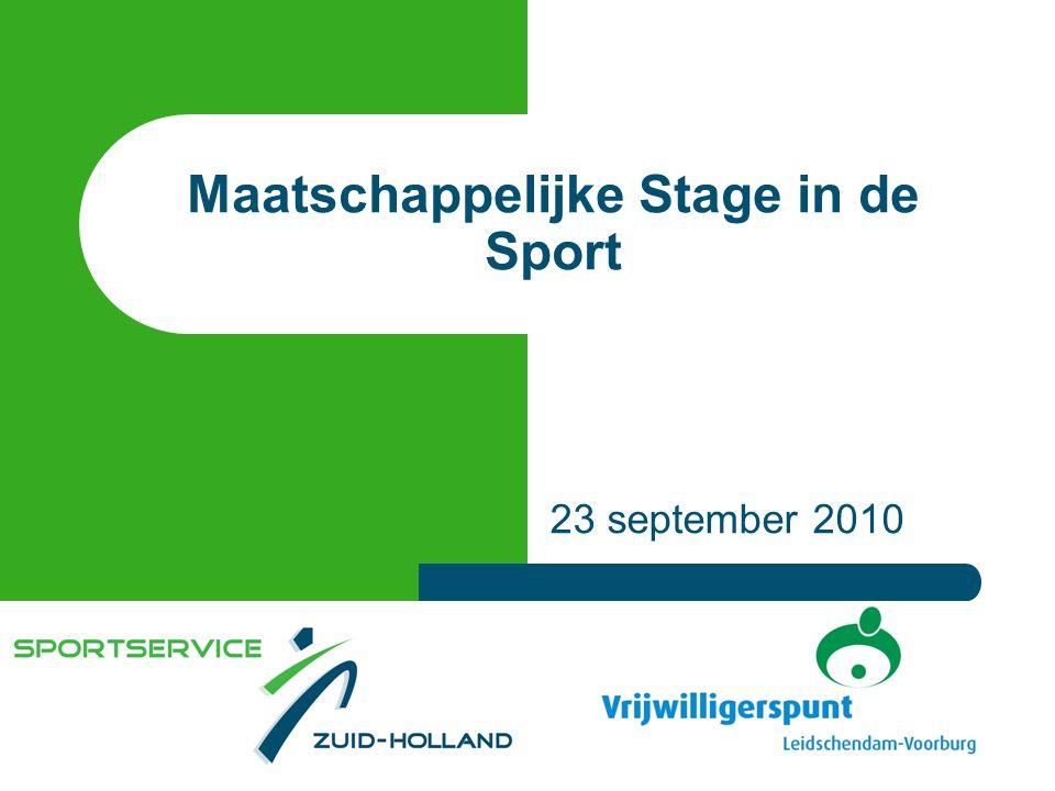 Maatschappelijke Stage in de Sport 23 september 2010