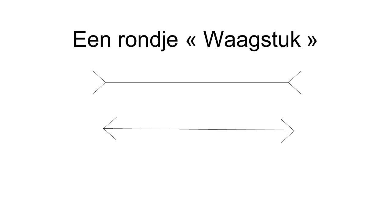 Een rondje « Waagstuk »