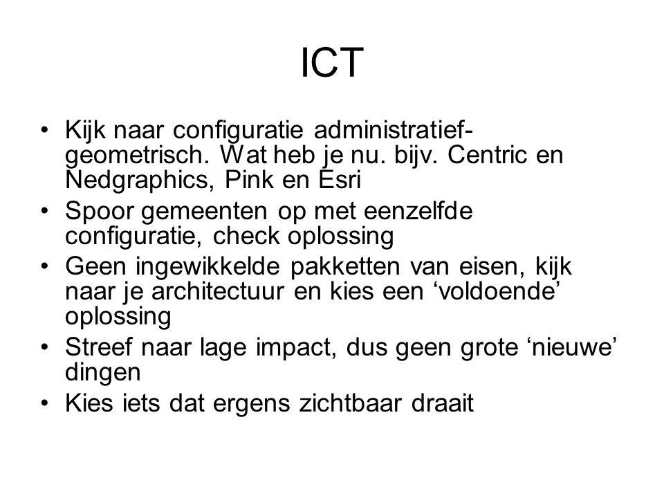 ICT Kijk naar configuratie administratief- geometrisch.