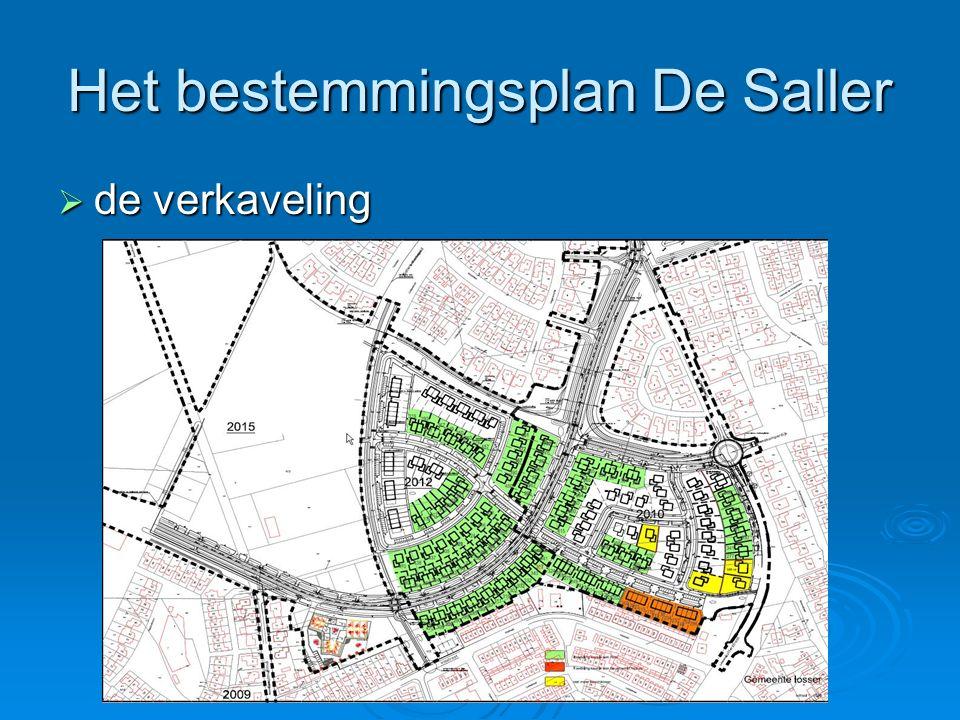 Het bestemmingsplan De Saller  de verkaveling