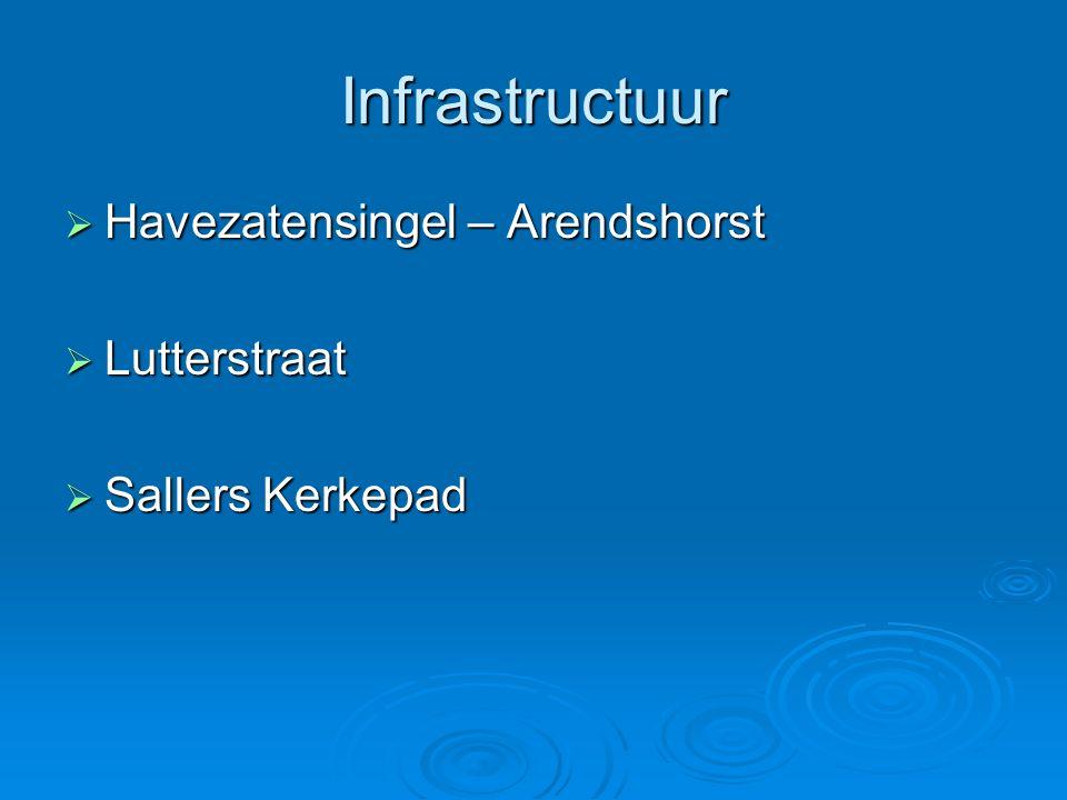 Infrastructuur  Havezatensingel – Arendshorst  Lutterstraat  Sallers Kerkepad
