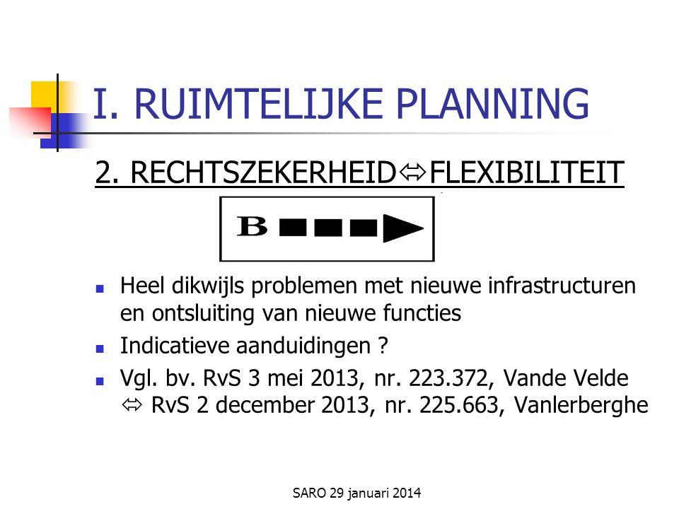 SARO 29 januari 2014 I. RUIMTELIJKE PLANNING 2.