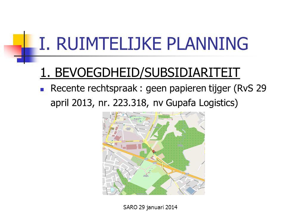SARO 29 januari 2014 I.RUIMTELIJKE PLANNING 1.
