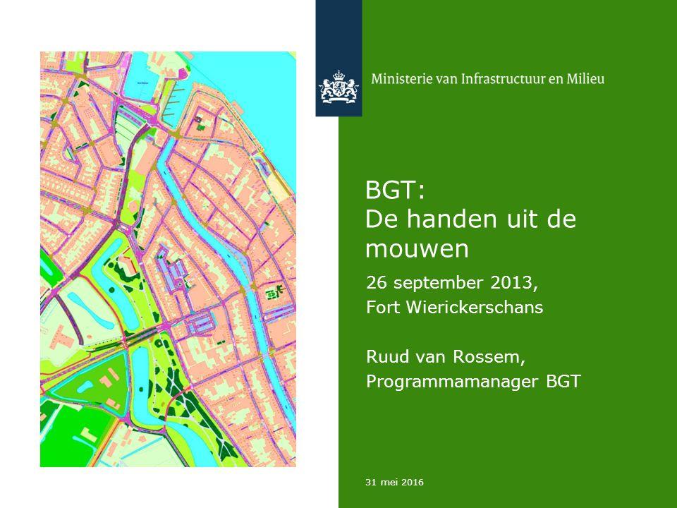 31 mei 2016 BGT: De handen uit de mouwen 26 september 2013, Fort Wierickerschans Ruud van Rossem, Programmamanager BGT