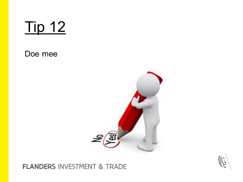 Tip 12 Doe mee
