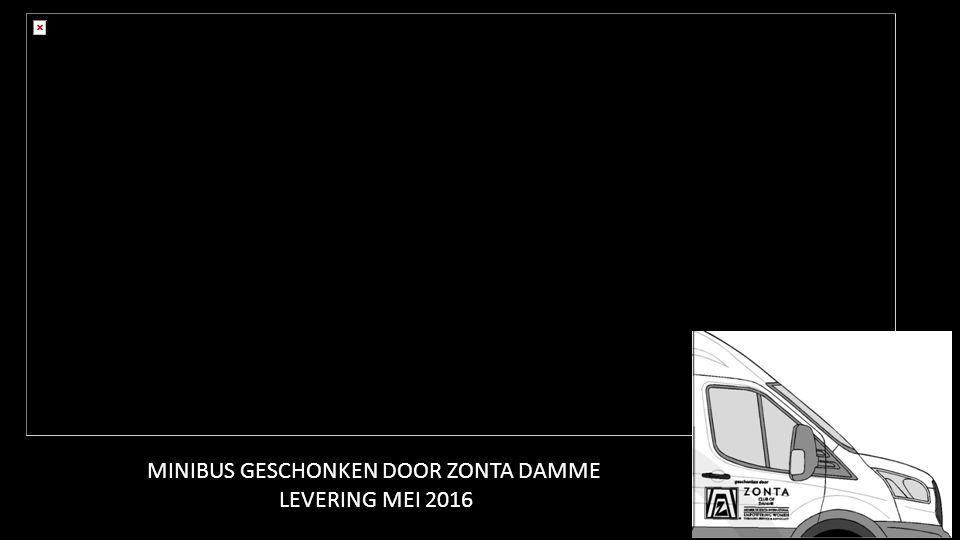 MINIBUS GESCHONKEN DOOR ZONTA DAMME LEVERING MEI 2016