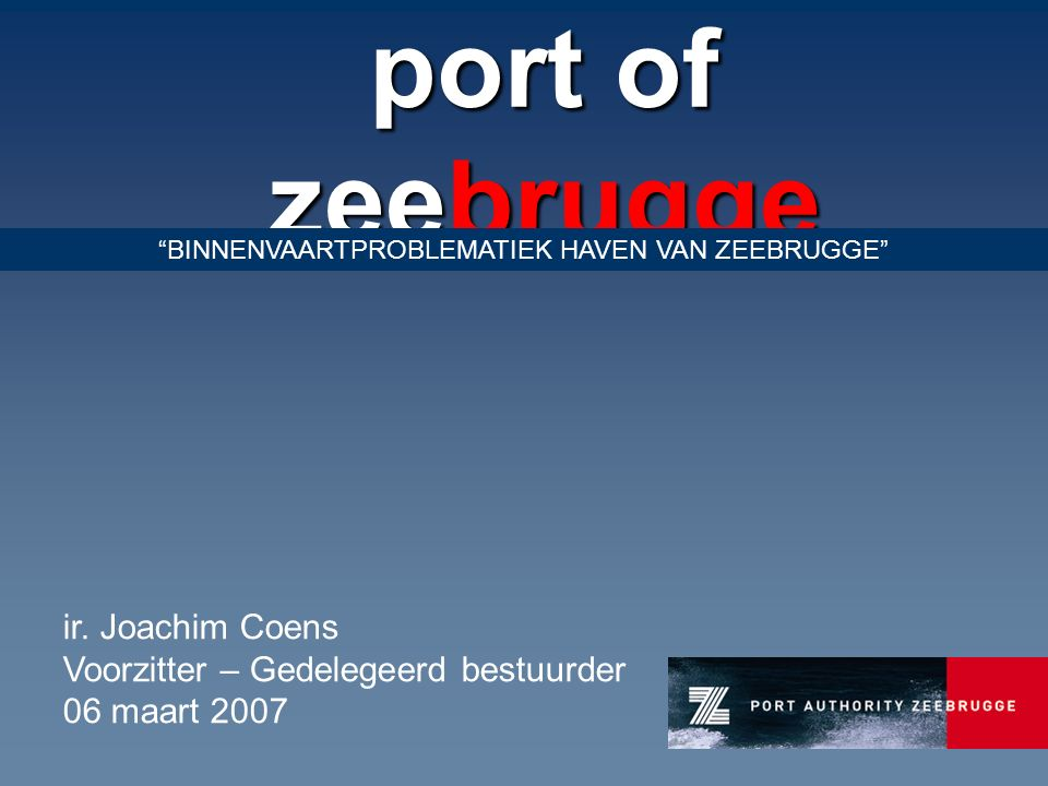 port of zeebrugge ir.