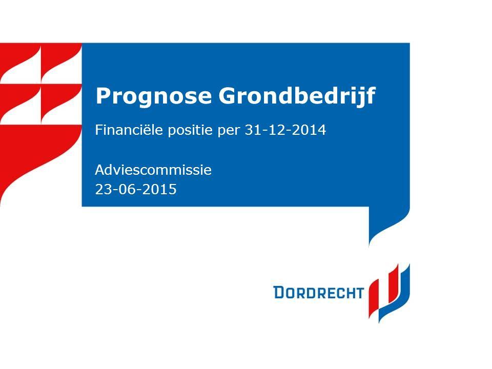 Prognose Grondbedrijf Financiële positie per 31-12-2014 Adviescommissie 23-06-2015