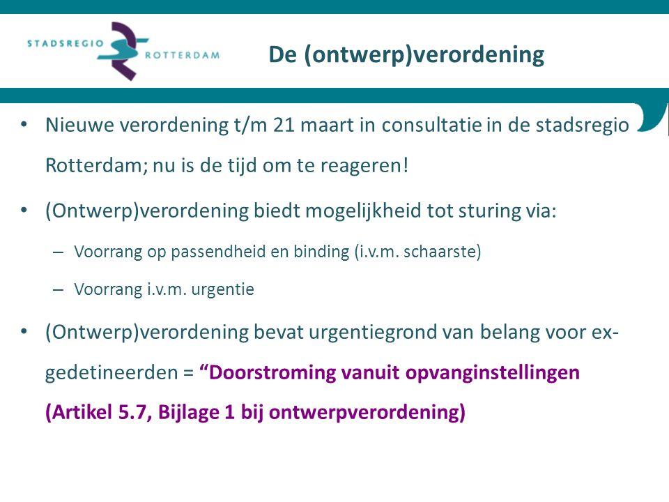 Nieuwe verordening t/m 21 maart in consultatie in de stadsregio Rotterdam; nu is de tijd om te reageren.