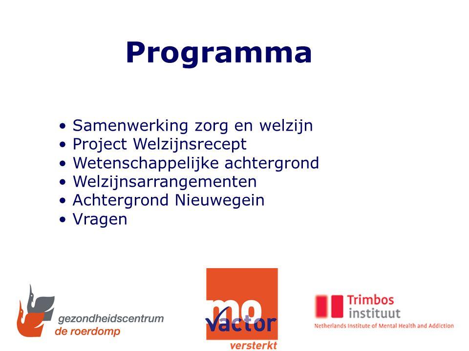 Samenwerking Roerdomp- MOvactor Wijk- servicepunt Gezond Doorslag Welzijns- recept Sociaal isolement Fysieke gezondheid
