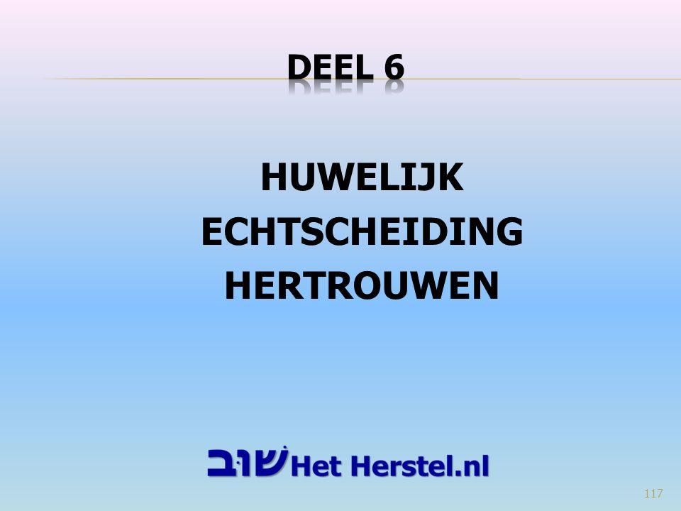 HUWELIJK ECHTSCHEIDING HERTROUWEN 117