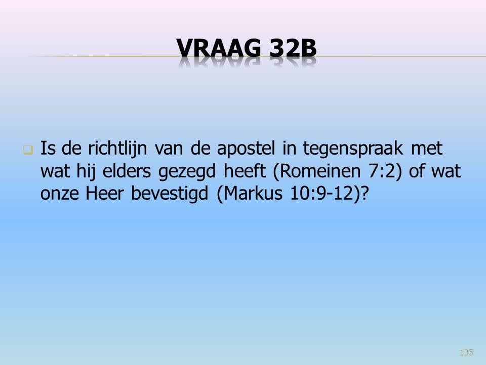  Is de richtlijn van de apostel in tegenspraak met wat hij elders gezegd heeft (Romeinen 7:2) of wat onze Heer bevestigd (Markus 10:9-12)? 135