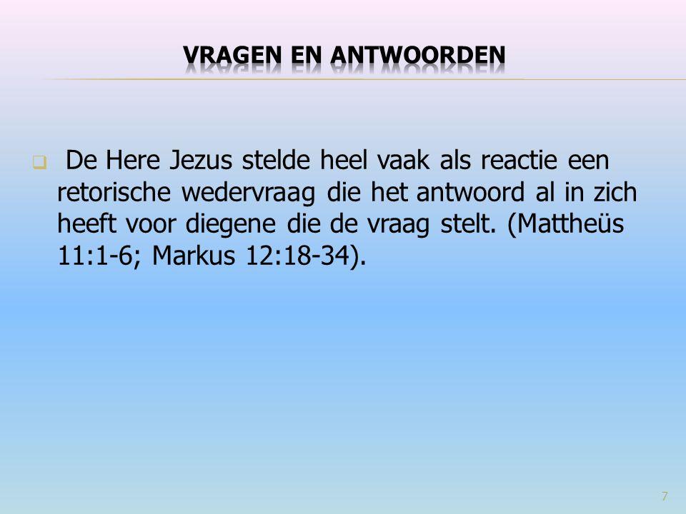  Onderzoek en verklaar de verlovingsgewoonte in Bijbelse tijden (Mattheüs 1:18-25). 118